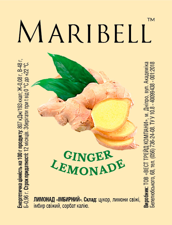 Lemonade concentrate Ginger