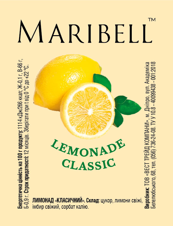 Lemonade concentrate Lemonade classic