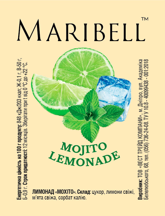 Lemonade concentrate Mojito