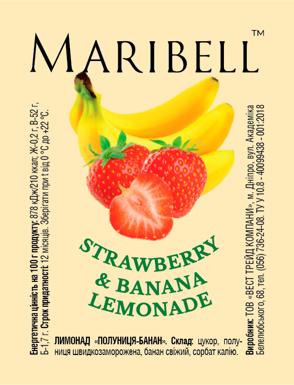Lemonade concentrate Strawberry&Banana